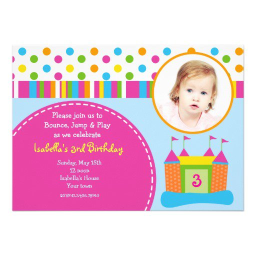Bounce Birthday Party Invitations