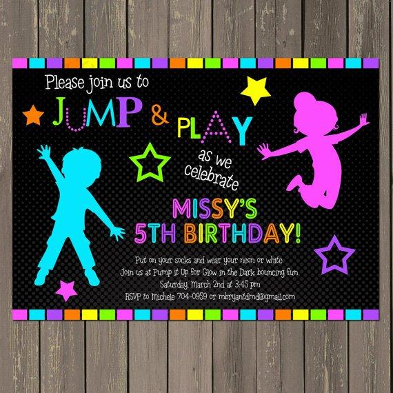 Bounce House Birthday Invitation Templates