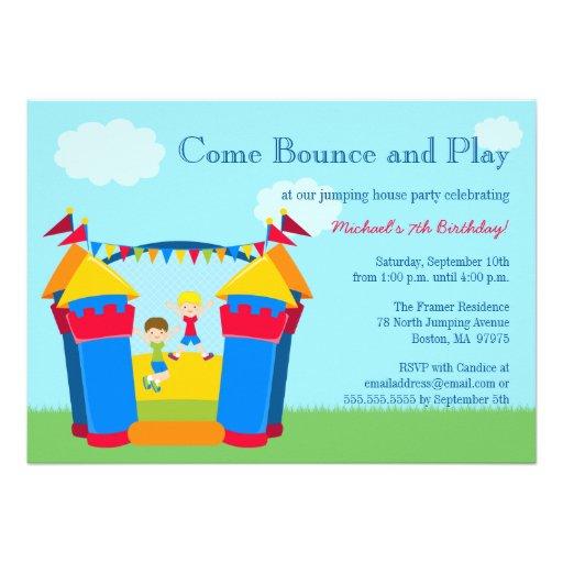 Bounce House Birthday Invitations