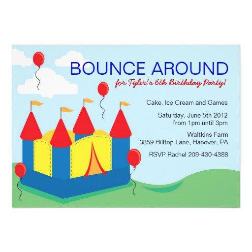 Bounce House Birthday Invitations Templates