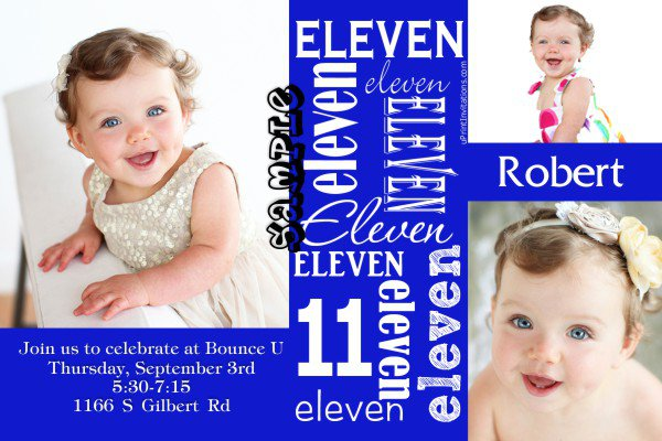 Boys 11th Birthday Invitations Printable