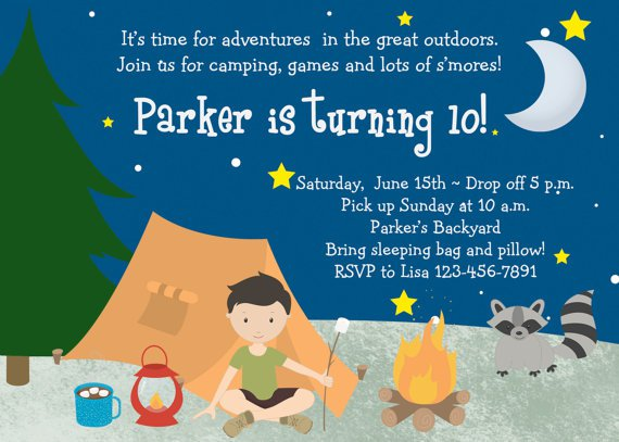 Boys Sleepover Invitation Wording