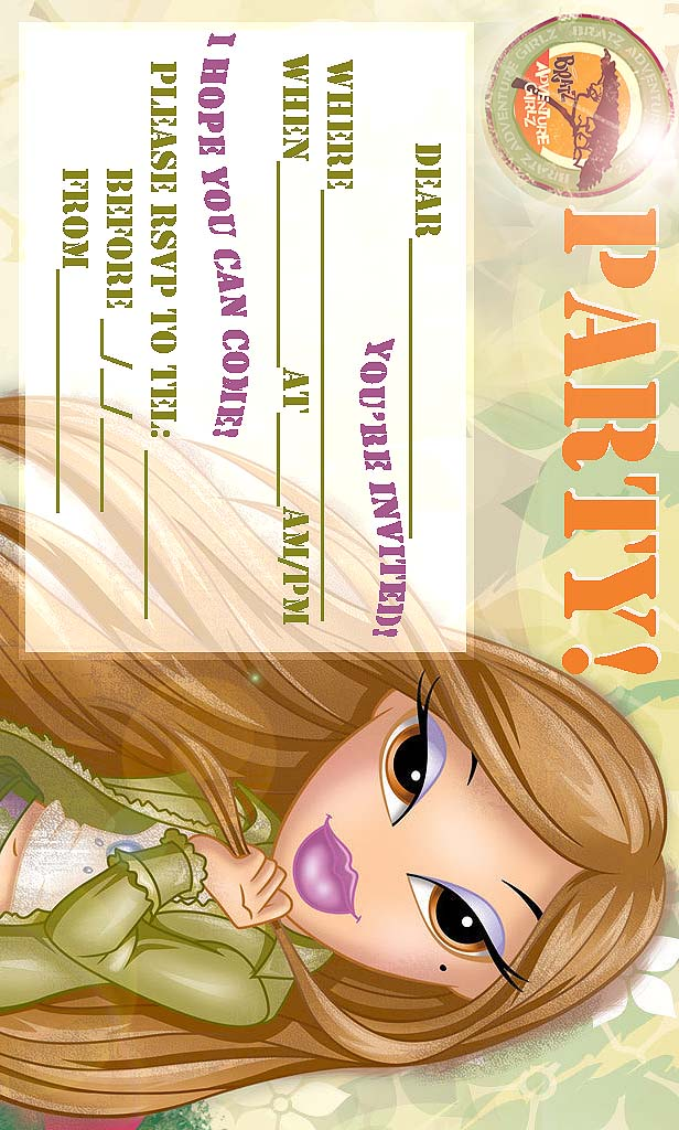 Bratz Invitations Printable
