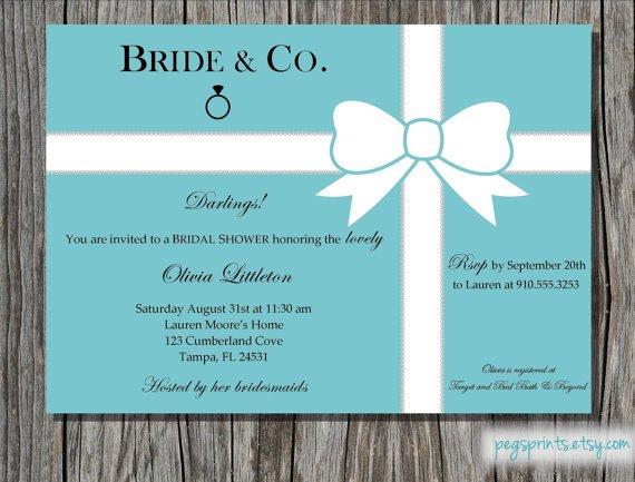 Breakfast At Tiffany Bridal Shower Invitation