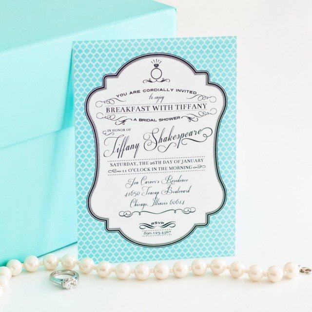 Breakfast At Tiffany Bridal Shower Invitations