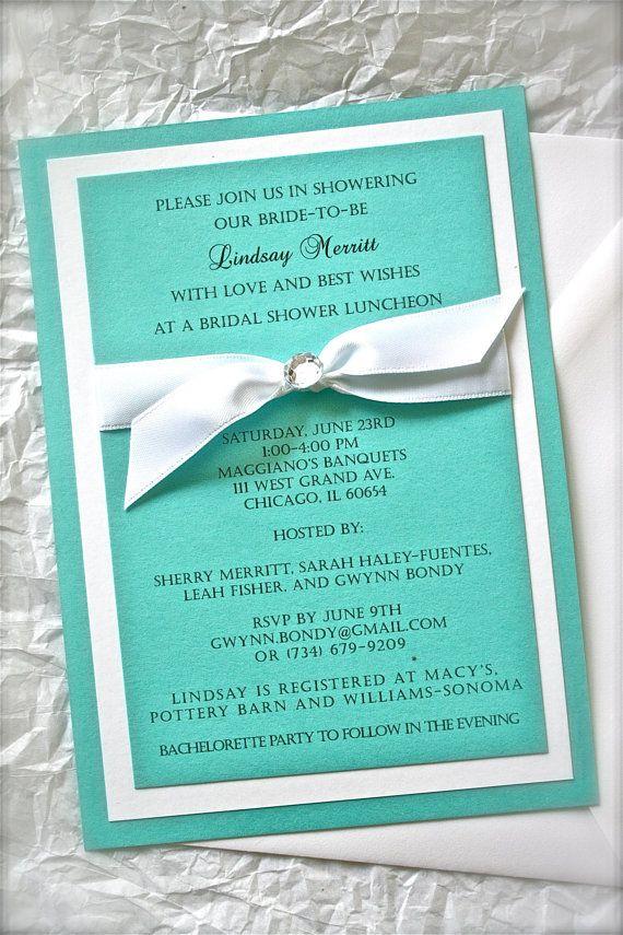 Breakfast At Tiffany Wedding Invitation