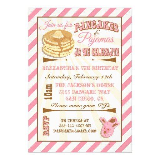 Breakfast Birthday Party Invitation Wording