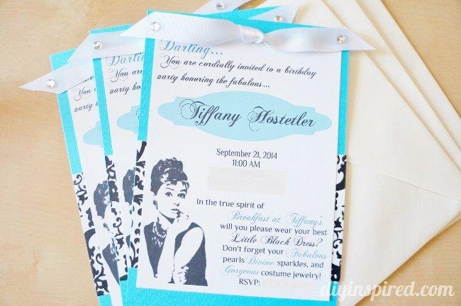 Breakfast Birthday Party Invitations