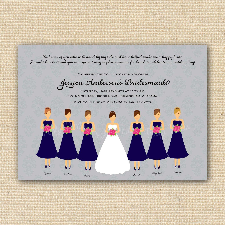 Bridal Brunch Printable Invitations