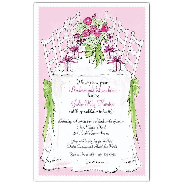 Bridal Luncheon Invitations Printable