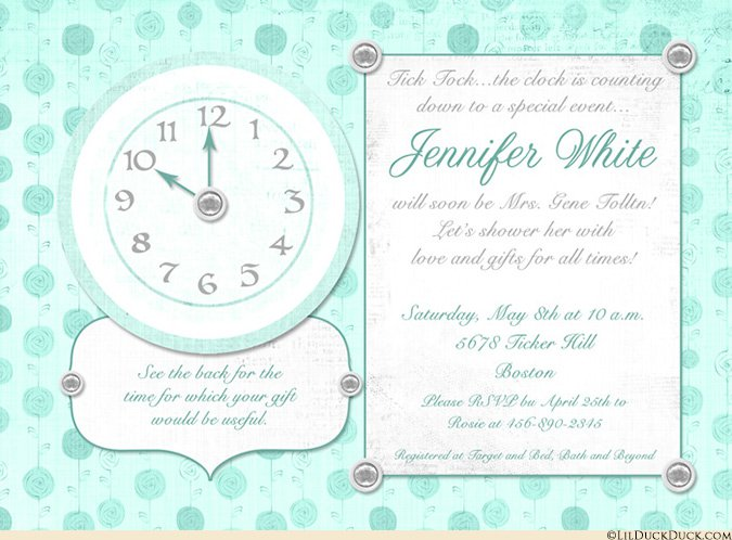 Bridal Shower Invitation Inserts