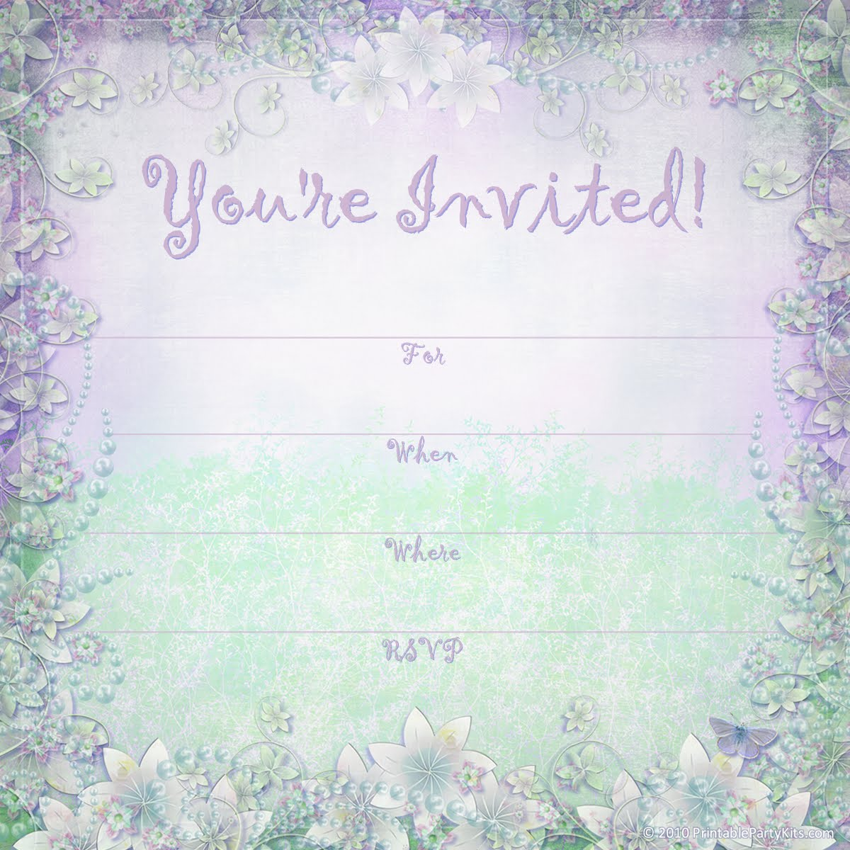 Bridal Shower Invitation Templates Powerpoint