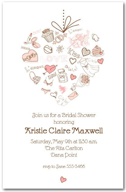 Bridal Shower Invitations With Hearts