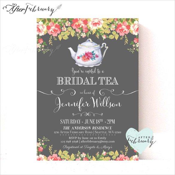 Bridal Tea Invitation Templates