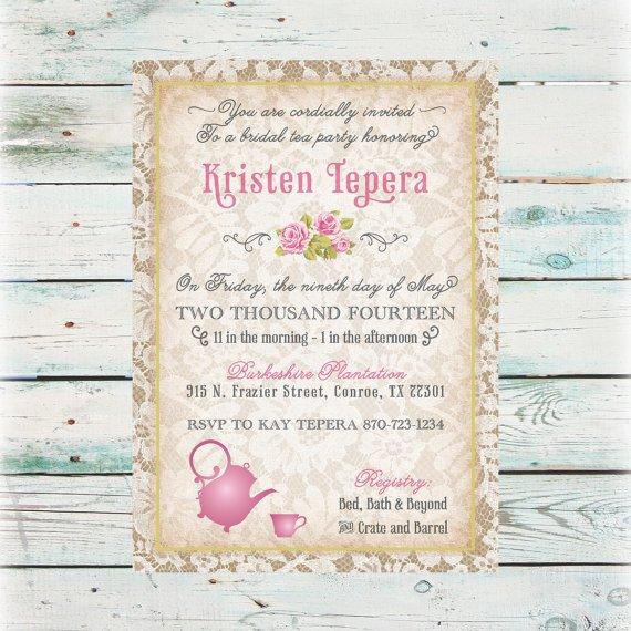 Bridal Tea Invitations Designs