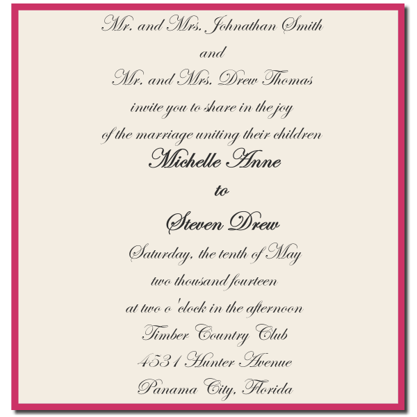 bride and groom wedding invitation wording arranged marriage, Wedding invitations