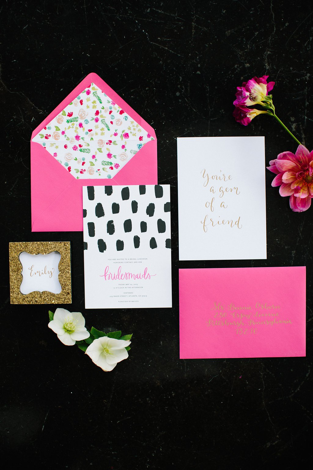Bridesmaid Luncheon Invitation Templates