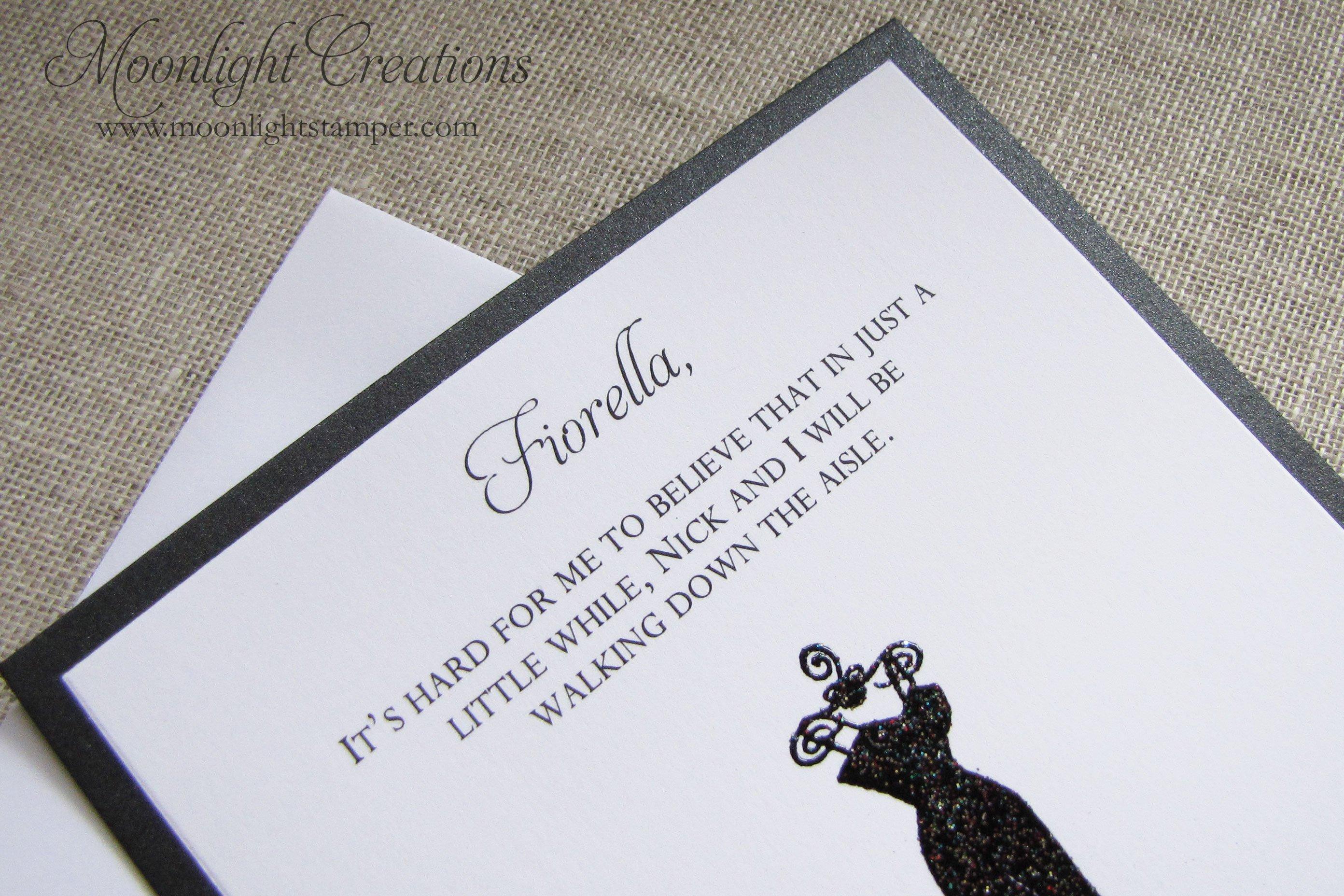 Bridesmaids Invitations Wording
