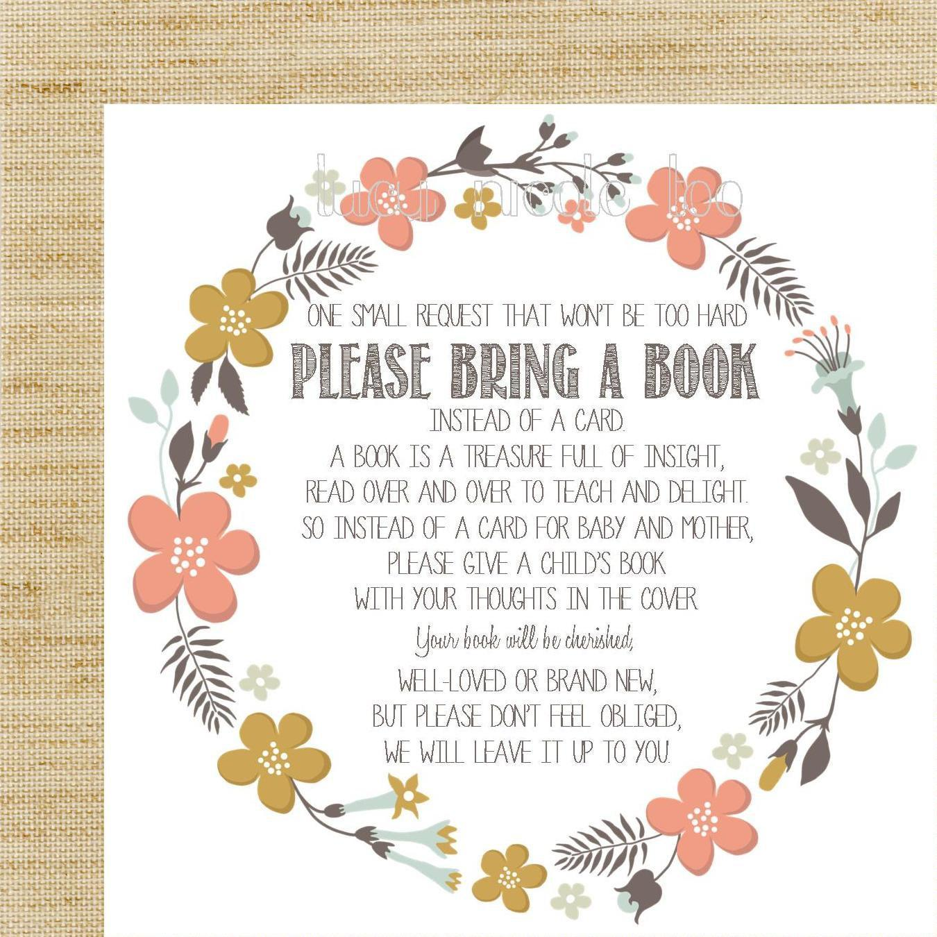 Book Baby Shower Invitation Wording