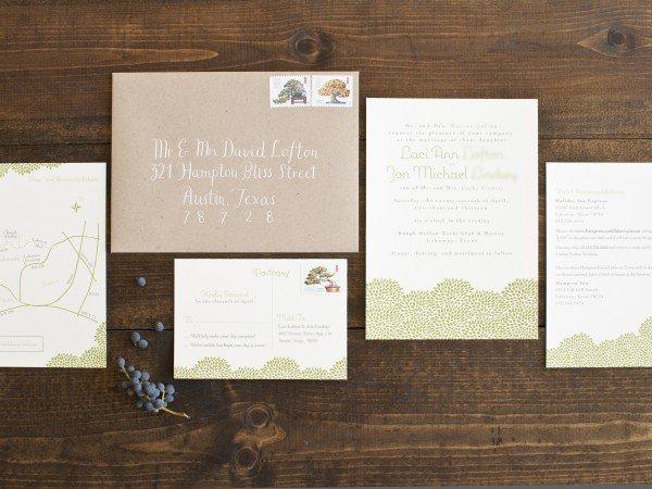 Brown Bag Wedding Invitation