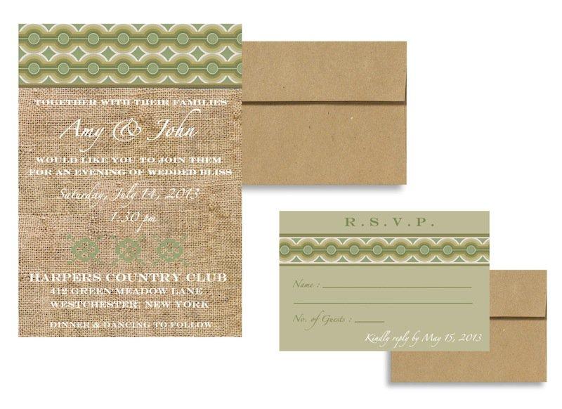 Brown Bag Wedding Invitations
