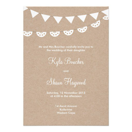 Brown Kraft Paper Invitations