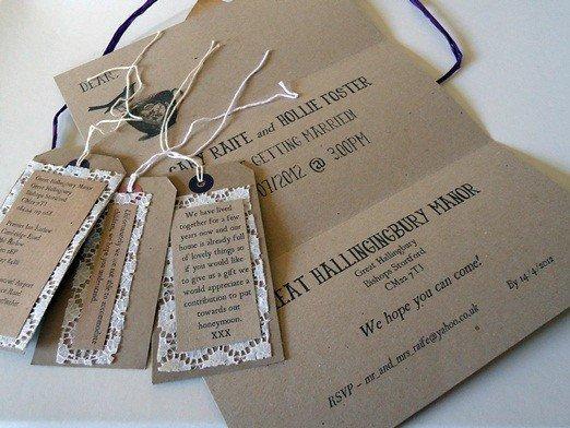Brown Paper Wedding Invitations Australia