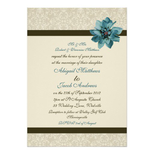 Brown Paper Wedding Invitations Pinterest