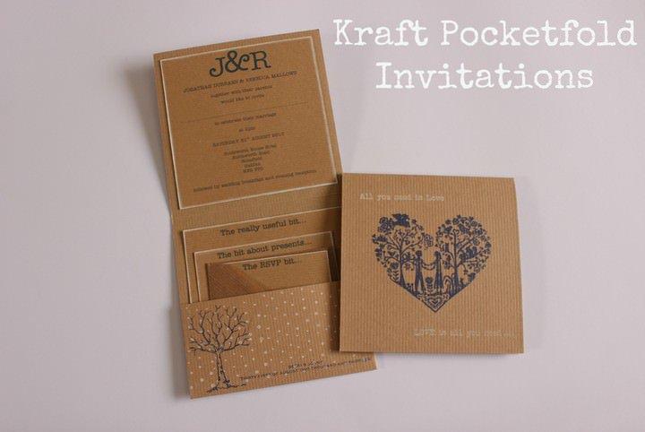 Brown Paper Wedding Invitations Uk