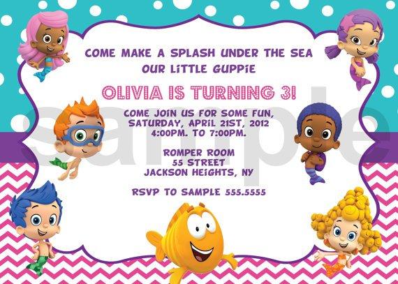 Bubble Guppies Birthday Invitation Template Free