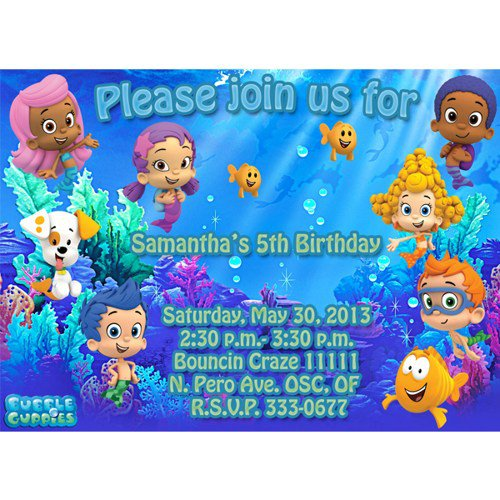 Bubble Guppies Birthday Invitations Template with beautiful invitation template