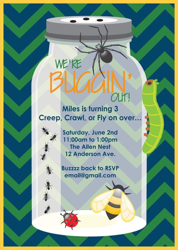 Bug Birthday Party Invitations Printable