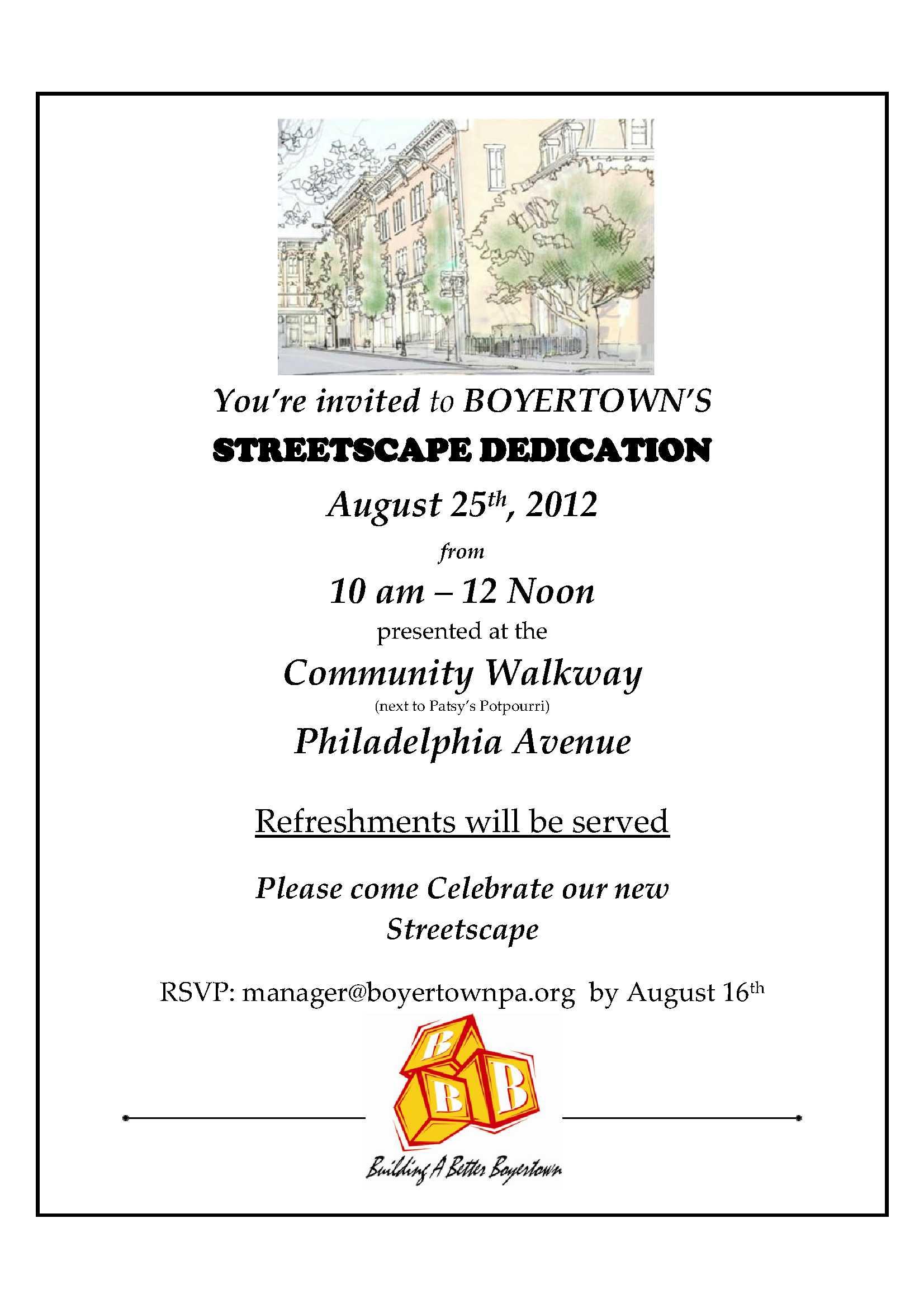 Building Dedication Invitation Wording