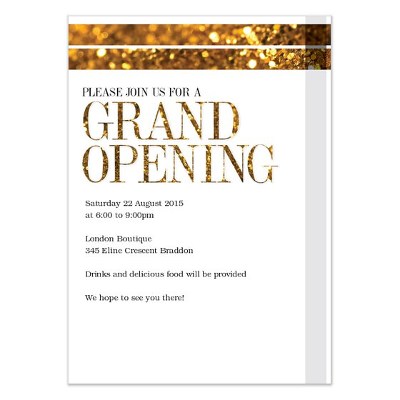 Business Grand Opening Invitation Samples