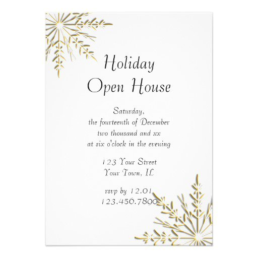 Business Open House Invitations Wording