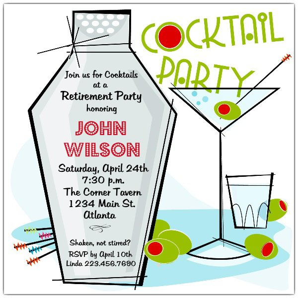 Business Party Invitations Templates
