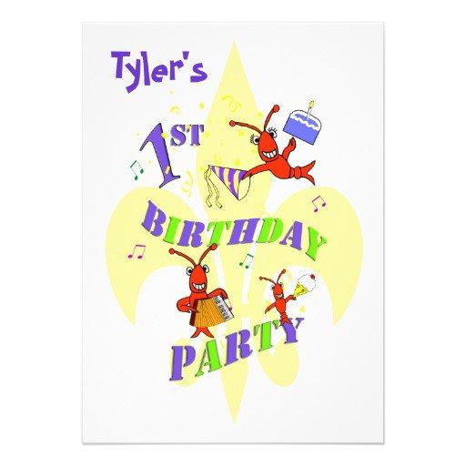 Cajun Party Invitation Free