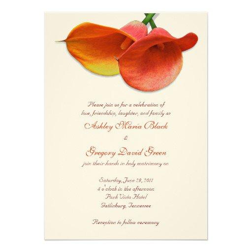 Calla Lily Wedding Shower Invitations
