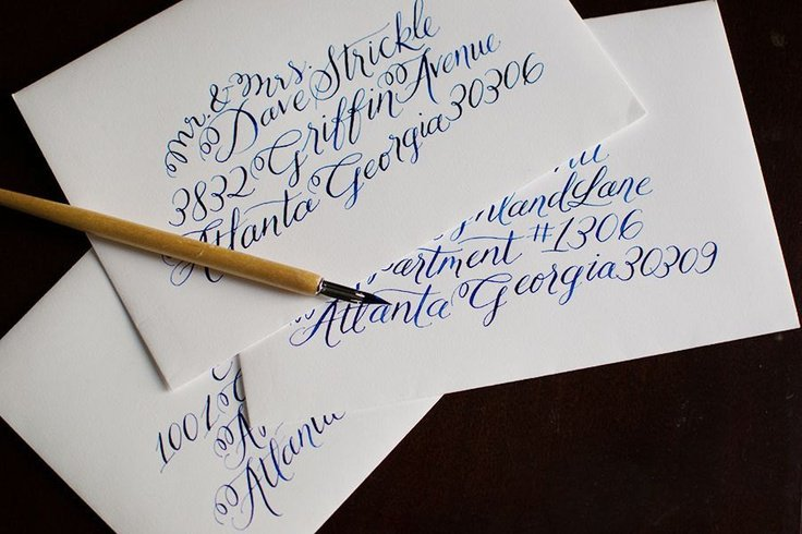 Calligraphy fonts for wedding invitations