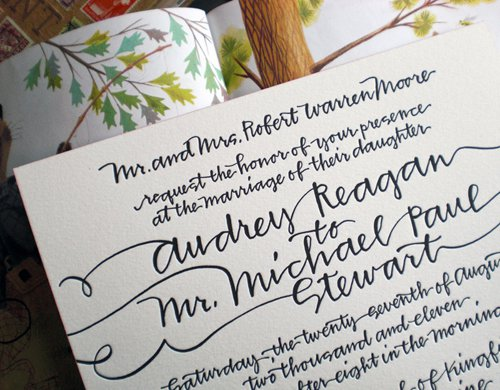 Calligraphy Styles For Wedding Invitations