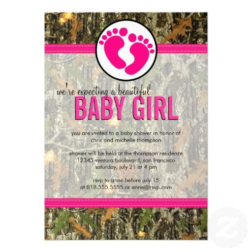 Camo Baby Shower Invitations For Girls