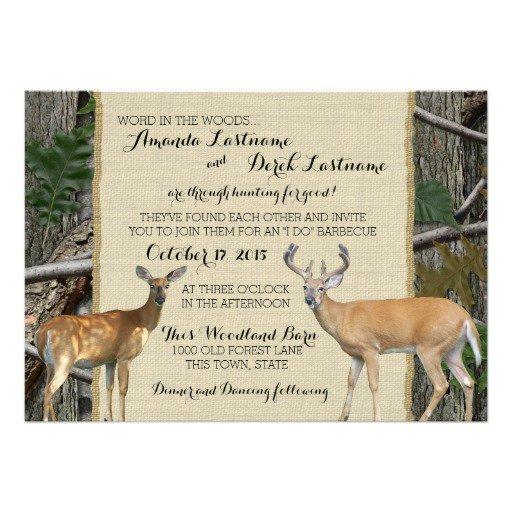 Camo Deer Wedding Invitations