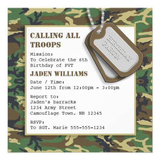 Camo Invitations Zazzle