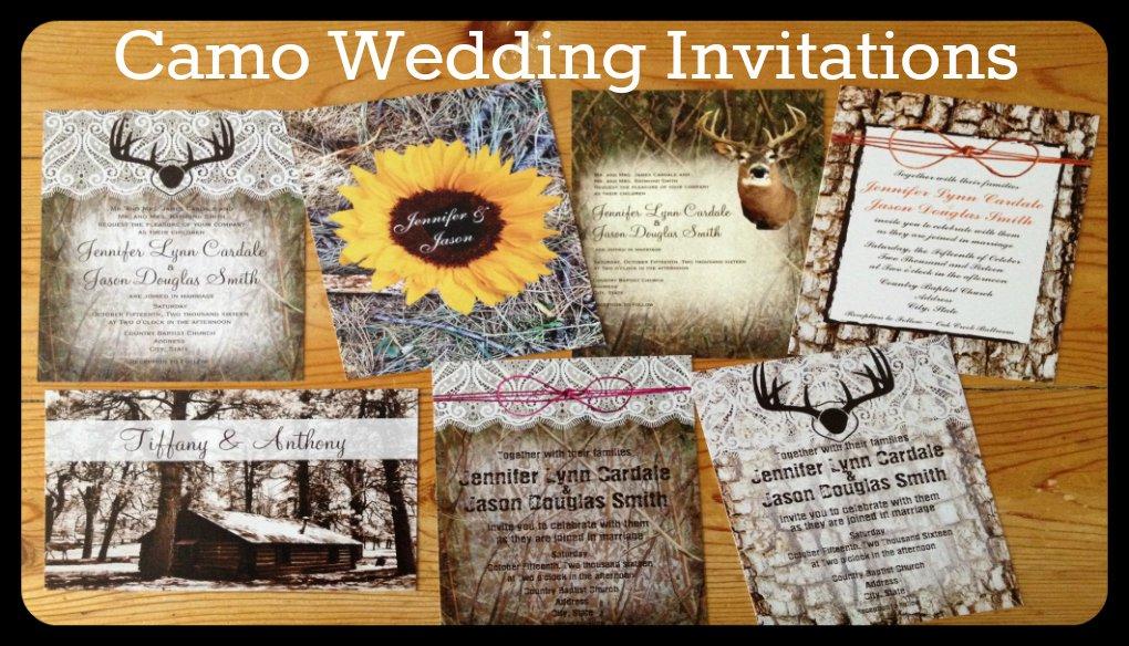 Camo Wedding Invitation Sets