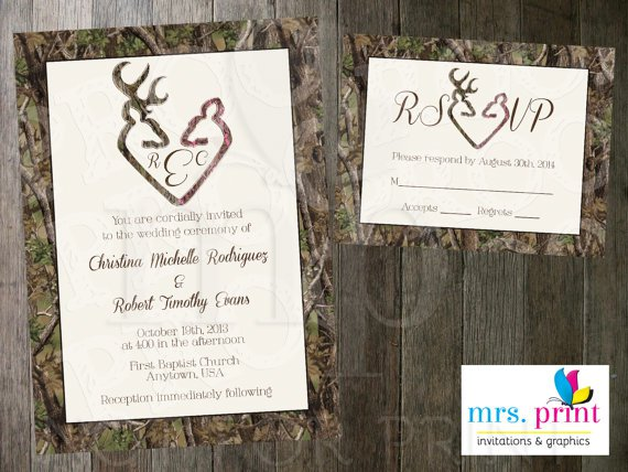 Camo Wedding Invitations Kits
