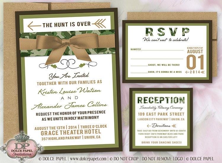 Camo Wedding Invitations Sets