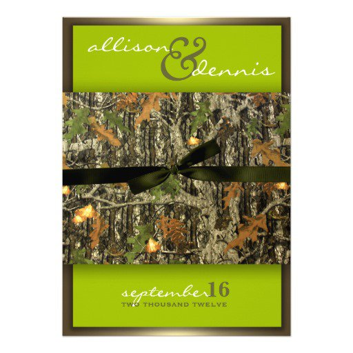 Camo Wedding Invitations Zazzle