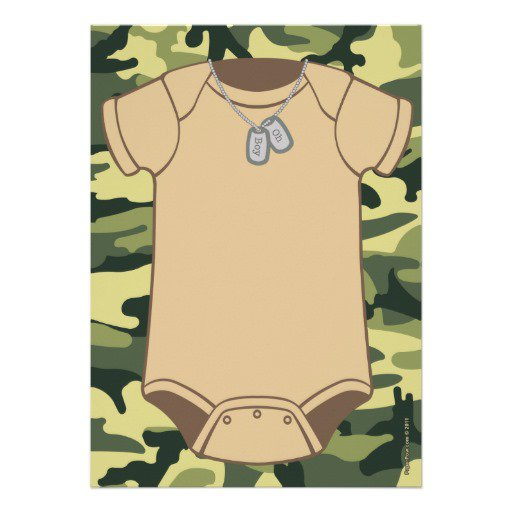 Camouflage Baby Shower Invitations Girl