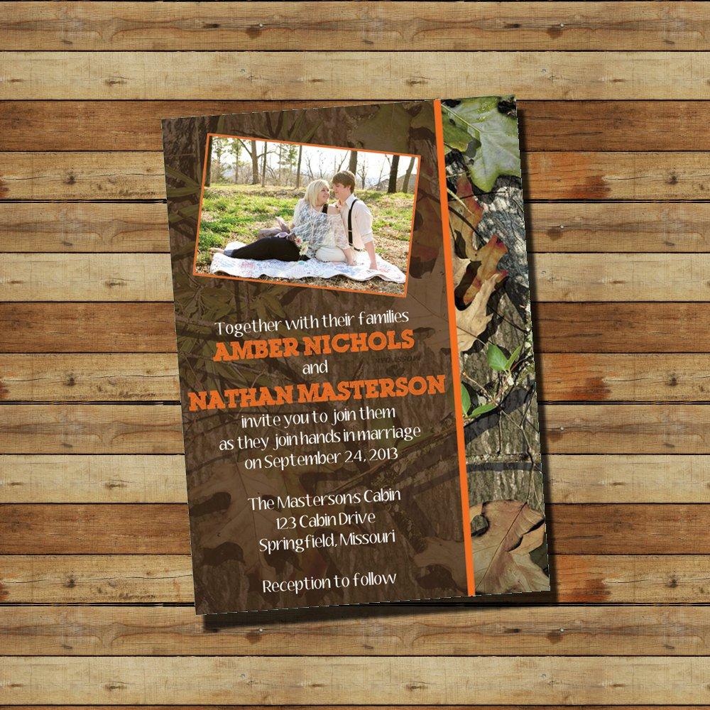 Camouflage Wedding Invitation Kits