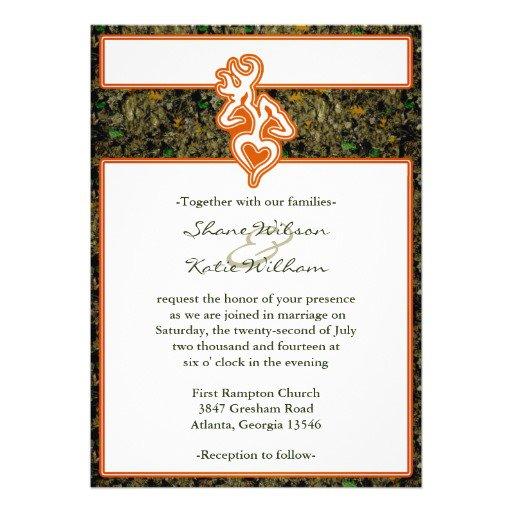 Camouflage Wedding Invitations Templates